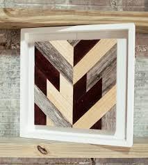 chevron wood wall art square art art pieces goodhand chevron wall saveenlarge