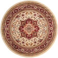 safavieh lyndhurst ivory red 10 ft x 10 ft round area rug