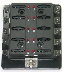 10 way blade fuse box (compact) with l e d fhal110 electrical car 10 way fuse box 10 way blade fuse box (compact) with l e d fhal110 rfhal110 15 54 l e d