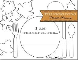 These can easily be laminated for continued use, especially if you plan on using them in the classroom, just use. Thanksgiving Placemats Free Printable Mama Miss Thanksgiving Placemats Thanksgiving School Thanksgiving Activities For Kids