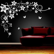 erfly vine flower wall art stickers vinyl decals