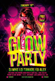 glow flyer glow party flyer template