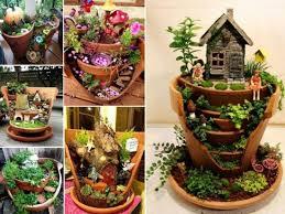 fairy gardens ideas. Broken Pot Fairy Garden Ideas Gardens