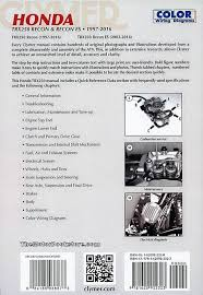 honda trx250 recon es repair manual 1997 2016 clymer m446 4 Honda TRX450R Wiring-Diagram honda trx250 recon, trx250 recon es atv repair manual 1997 2016