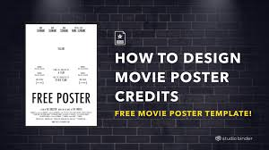 Movie Poster Free Template How To Make A Movie Poster Free Movie Poster Credits Template