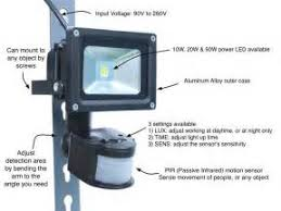pir floodlight wiring diagram images motion activated security floodlight motion sensor