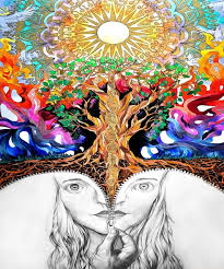 creative psychedelic trippy tapestry poster home decor wall sticker various sizes