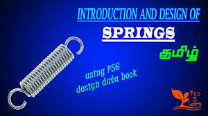 Buy Psg Design Data Book Introduction And Design Of Springs Psg Data Book Tamil