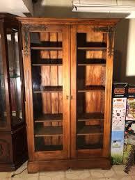 antique walnut bookcase break front bookcase display cabinet scotland 1915 antique furniture b1238 scotland 1915 all original breakfront