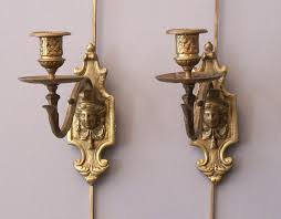 vintage candle wall sconces incredible pair plastic for candles gold throughout decor antique silver