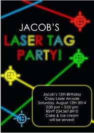 Free 13th Birthday Invitations Laser Tag Party Invites Free Printable Laser Tag Birthday