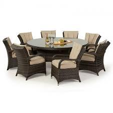 maze rattan texas 8 seat rattan dining set 1 8m round table