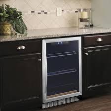 eurodib usf54bc single section single temperature full glass door undercounter wine refrigerator