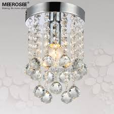 1 light crystal chandelier light fixture small clear crystal re lamp for aisle stair hallway corridor