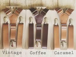 rustic wedding suspenders groomsmen brown leather suspenders mens rustic wedding suspenders boys suspenders ring bearer
