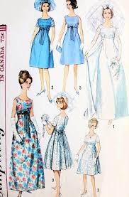Simplicity Wedding Dress Patterns Adorable 48s Mod Retro Empire Wedding Gown Bridal Dress Pattern Simplicity