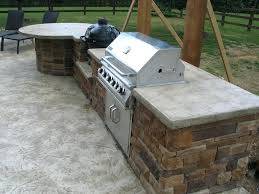 outdoor bbq concrete countertops island