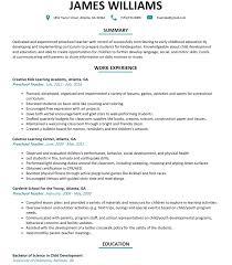 Sample Resume For Teachers Great Preschool Resume with Preschool Teacher Resume Sample 88