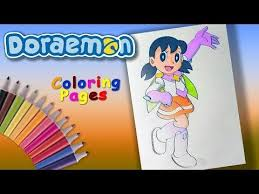 Learn colors with fun factor makes education easy for your children. Shizuka Superhero Doraemon Coloring Forkids Doraemon Character Coloring Page Youtube Doraemon Coloring Pages My Little Pony Characters
