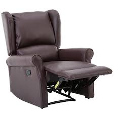 recliner wingback bonzy leather recliner wingback roll arm manual recliner chair red brown elegant reclining wingback