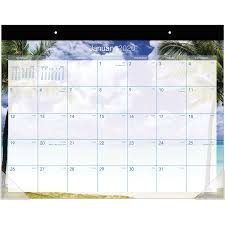 At A Glance Organizer At A Glance Tropical Escape Calendar Monthly Desk Pad Yes