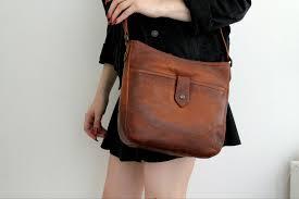 frye brown medium leather handbag cross best