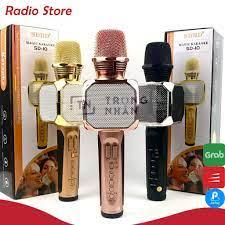Bảo hành 1 đổi 1) Micro karaoke bluetooth SD-10 Mic hát cầm tay loa không  dây mini hát hay đa năng có ghi âm giá cạnh tranh