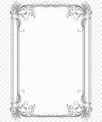 Frame For Word Border Design Black And White Png Download 740 1070 Free