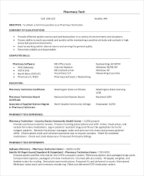 Pharmacy Technician Resume Objective