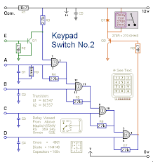how to build a simple code operated switch circuit diagram of a simple keypad operated switch