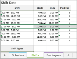 Work Shift Scheduling 30 Employee Shift Scheduling Template Andaluzseattle