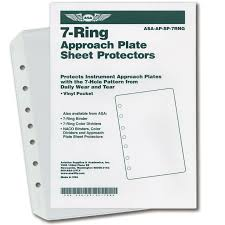 Jeppesen Chart Protectors Asa 7 Ring Approach Plate Sheet Protectors
