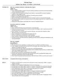 Outstanding Cashier Resume Templates Sample For Position With No
