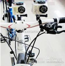 2018 Black Bike Action Camera Mount Bicycle Mini Camera Tripod