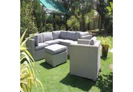 decorate a luxury garden by rattan furniture table and chair