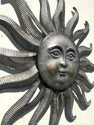 large metal sun wall decor galvanized