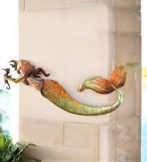 metal mermaid wall art