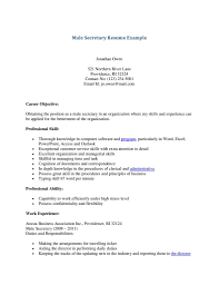 Resume Secretary Resume Sample