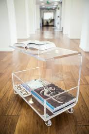 ... Coffee Table, Stylish Rectangle Unique Glass Clear Acrylic Coffee Table  On Wheels With Storage Ideas ...