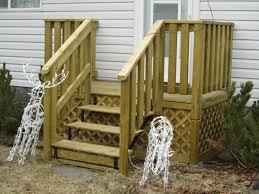 simple porch stair railing