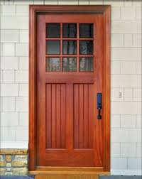 mission style front doorDbyD4003 This is a simple craftsman style door shown in Honduran