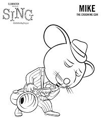 Small Picture Sing Movie Coloring Pages GetColoringPagescom