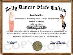 hobby diplomas belly dancer diploma