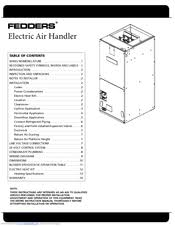 fedders afpb36a1 manuals fedders afpb36a1 instruction manual 16 pages electric air handler
