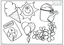 Printable Spring Coloring Pages Preschool Free Personable Weather To