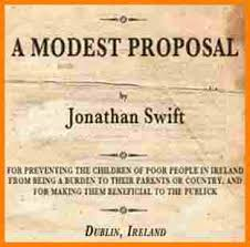 proposal essay topics examples proposal essay topics that are easy      Today  almost     years after being published  Jonathan Swift s A Modest  Proposal remains an icon of absurdist satire  In it  he skewers the Irish  and