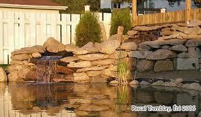 pond waterfall waterfall build waterfall