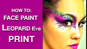 leopard print eyes face paint makeup tutorial you dymerfo choice image