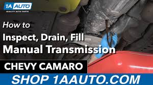 How to Inspect, Drain and Fill Manual Transmission Fluid 11 Chevy ...