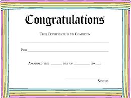 Certificate Outline Rainbow Congratulations Award Template